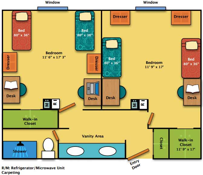 Penn gate ii floor plan mont alto housing food services for Floor plan services