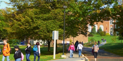 Students walk to class at Penn State Mont Alto.